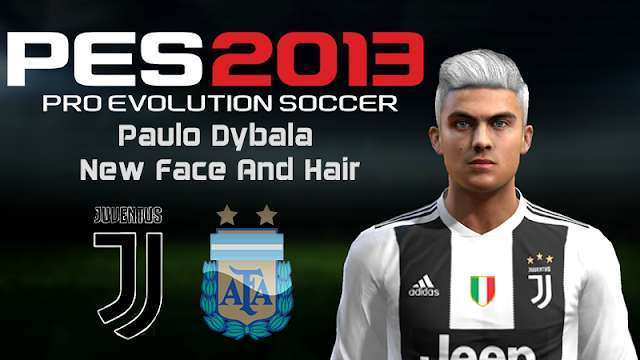 Paulo Dybala Face with New Hair PES 2013