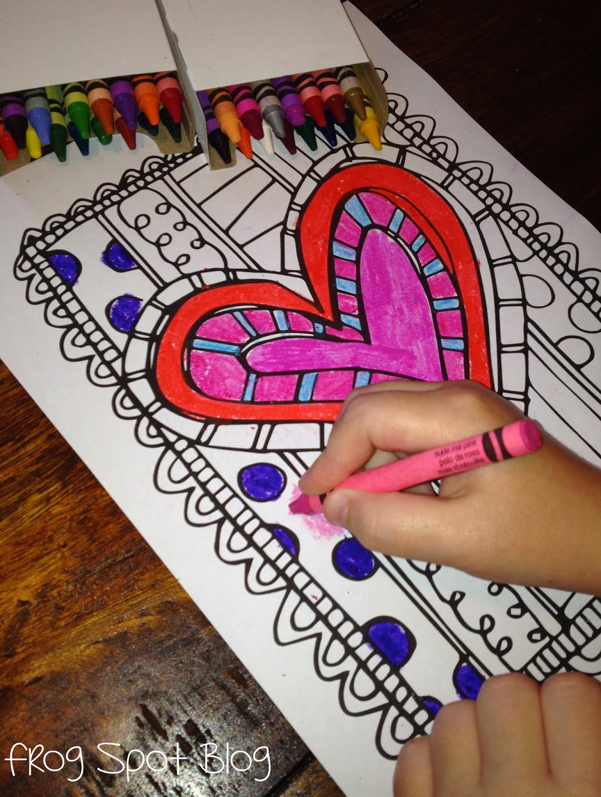 FREE Scrappy Valentines Day Coloring Page Frog Spot
