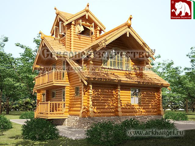 Unusual log house designs kerala home design and floor plans for Log home blueprints