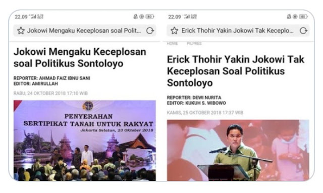 Soal Sontoloyo, Jokowi Bilang Keceplosan, Tapi  Kata Ketua TKN Bilang Tidak Keceplosan, Mana yang Benar?