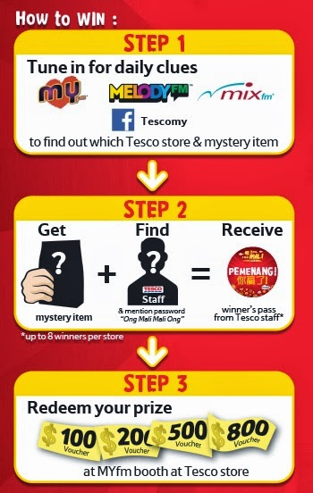 A short step by step to join and win Tesco's 'Ong Mali' contest