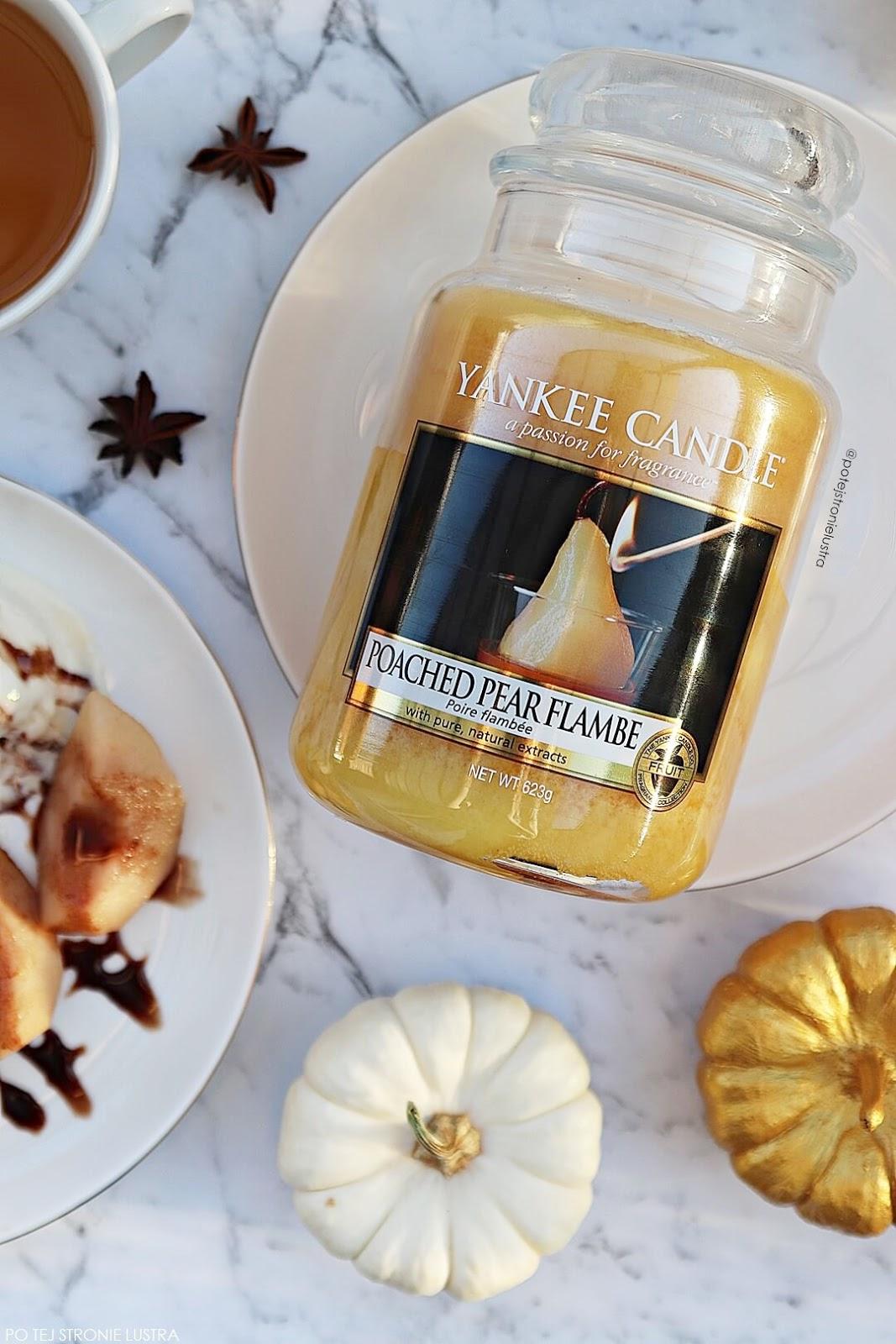 yankee candle poached pear flambe jesień 2018