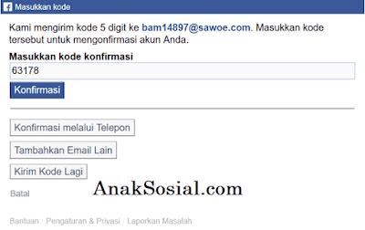 Trik Daftar Akun Facebook tanpa email asli 6