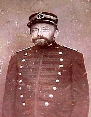 Ricardo Krone, como major da Guarda Nacional.