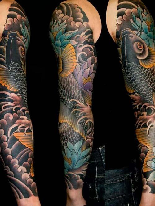 black arm koi fish tattoos koi balığı dövmeleri