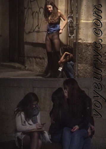 Girls Gotta Go 56 (Voyeur pee videos - Drunk spanish chicks peeing in public at festival)