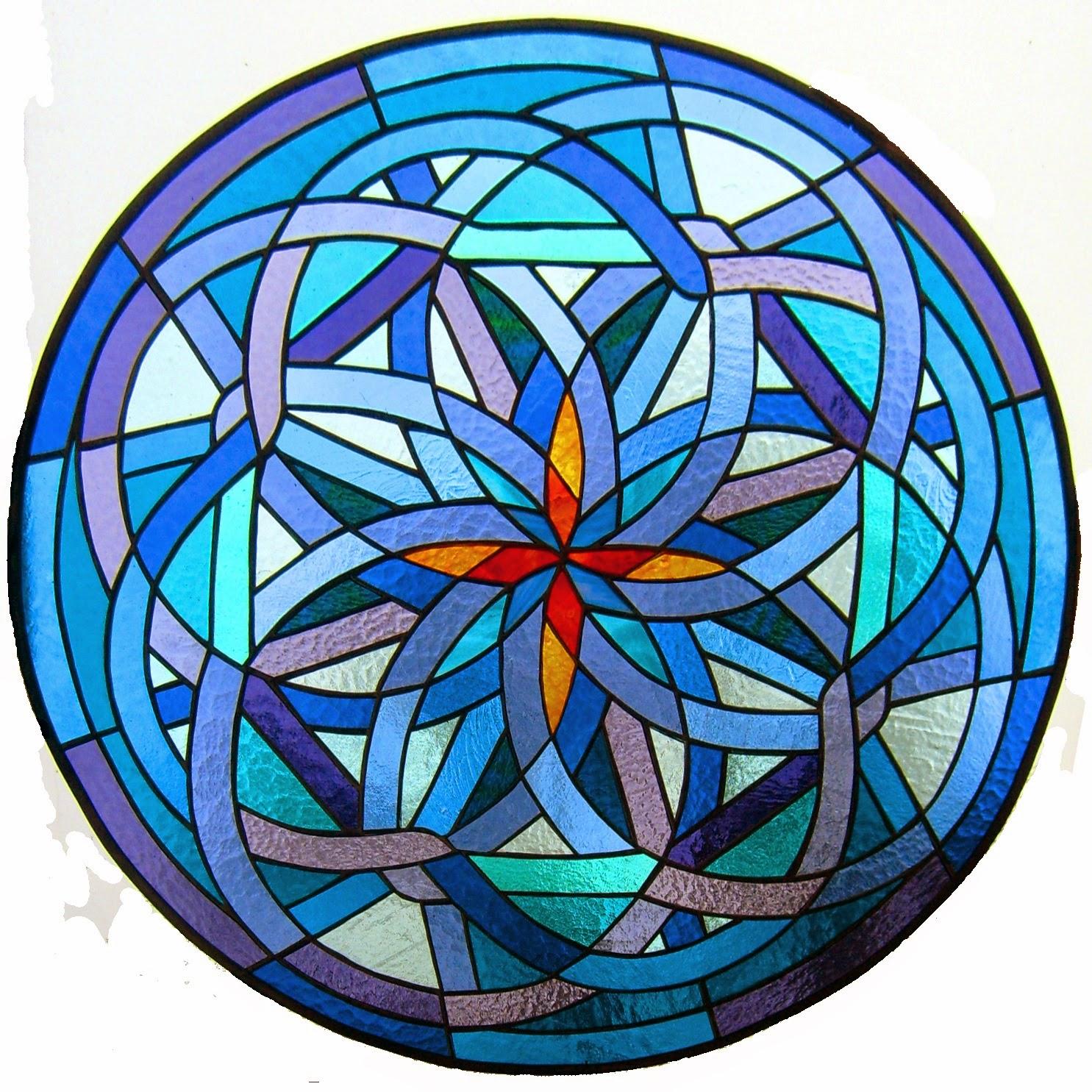 vitrážová mandala