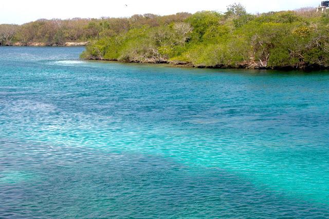 O mar do caribe colombiano.