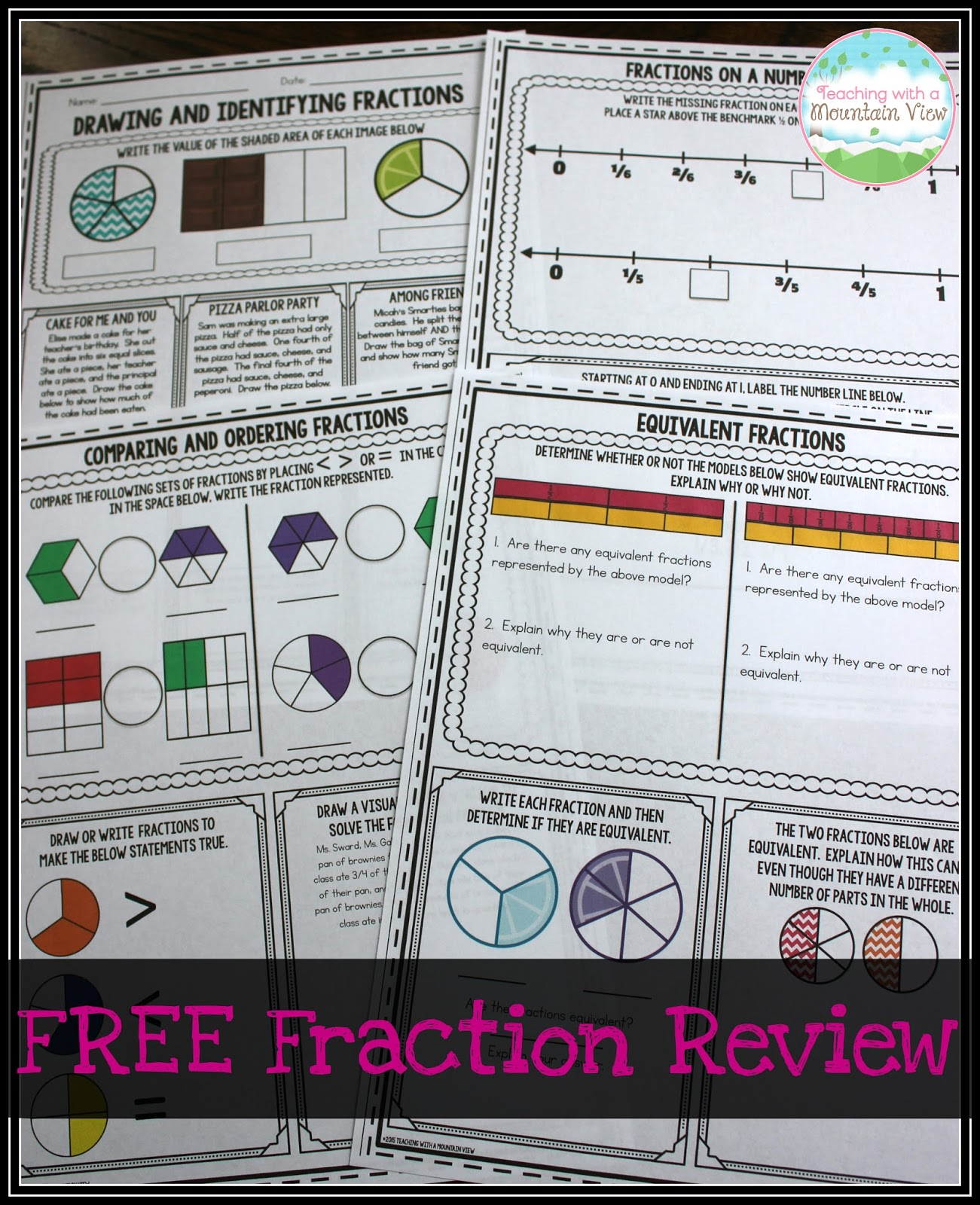 Student Success Center Fraction Review Sheet Answers