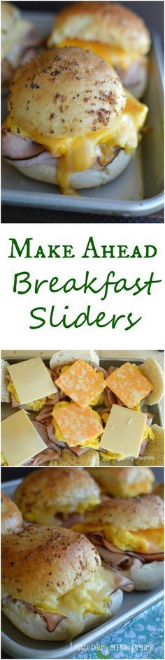 Make Ahead Breakfast Sliders all slathered in melted mustard butter, packed with gooey melted cheese sandwiched between a toasty roll is irresistible! I love make ahead breakfast that's can easily be