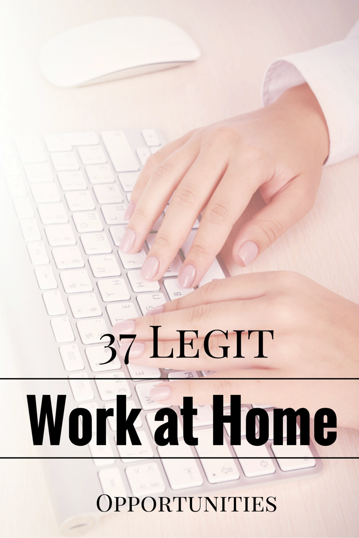 List of legitimate work from home jobs