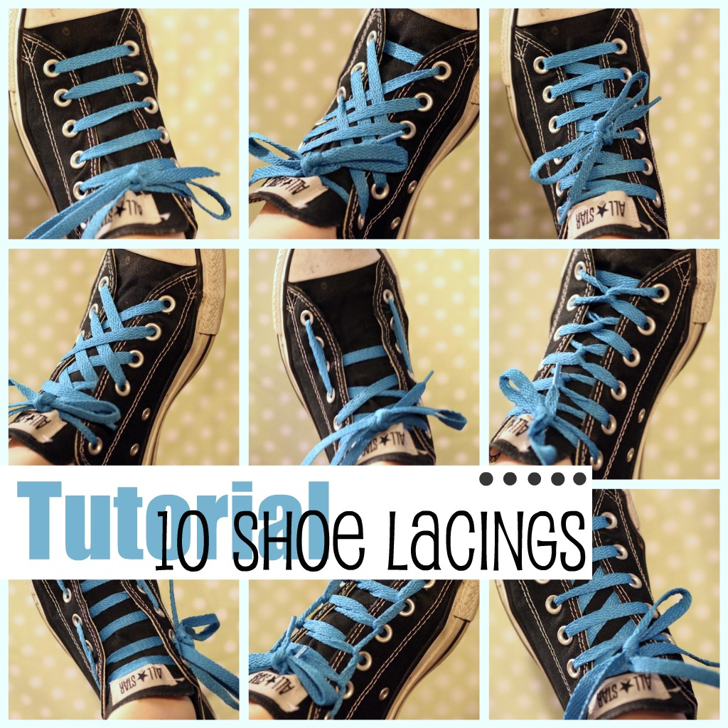 c5ed77153287e6 Today I m going to show you 10 different ways to lace up your favorite  pair