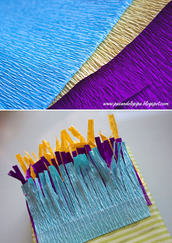 Flecos de papel para el pelo del monstruo