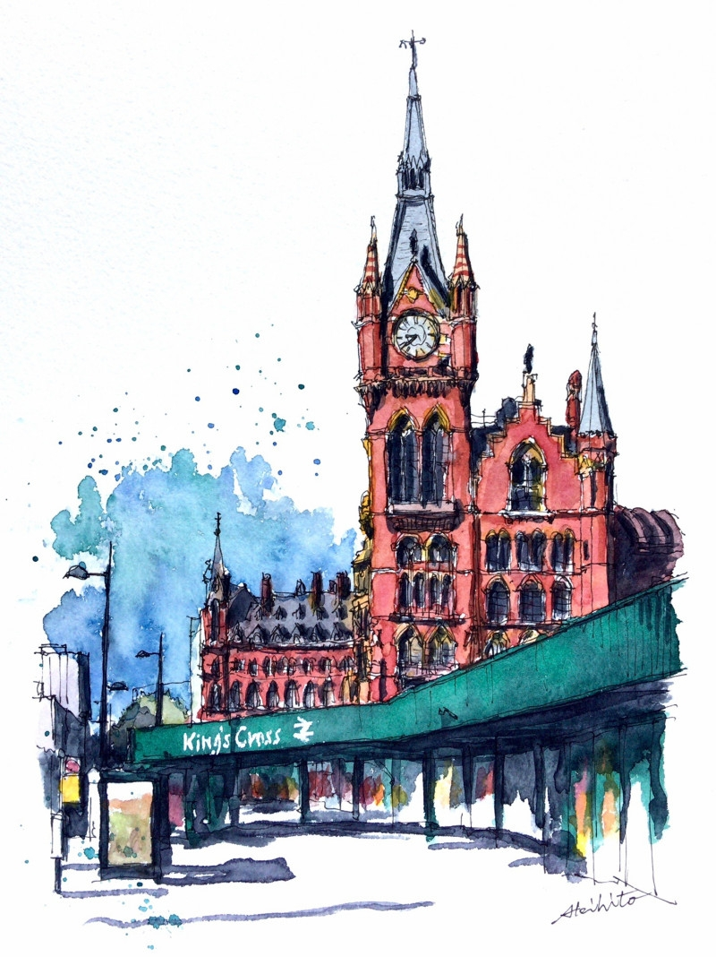07-London-UK-Akihito-Horigome-Travelling-Drawing-and-Painting-www-designstack-co