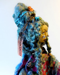 Little Sister of the Abalone Turtle Women Art Doll by Jeanne Fry