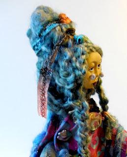 Little Sister of the Abalone Turtle Women Art Doll by Jeanne Fry