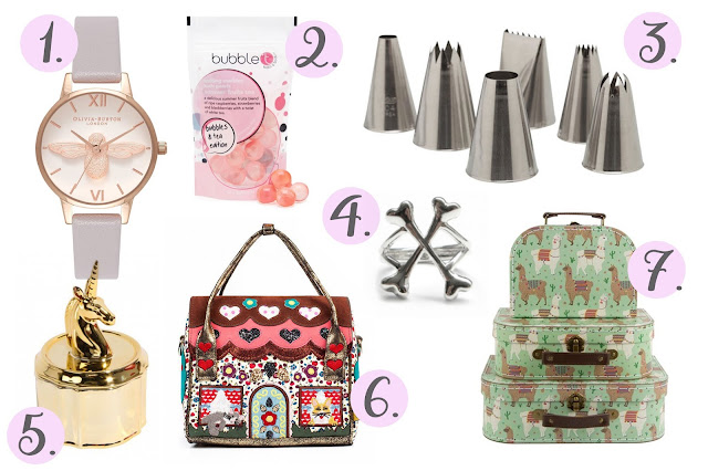 Irregular Choice bag, Sass and Belle, piping tips, paperchase, new look, bloody mary metal, wishlist