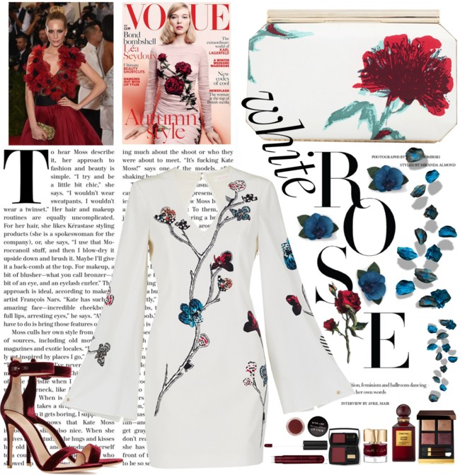Jelena Zivanovic Instagram @lelazivanovic.Glam fab week.Polyvore fashion sets.Gianvito Rossi red velvet sandals.Sass & Bide butterfly dress.