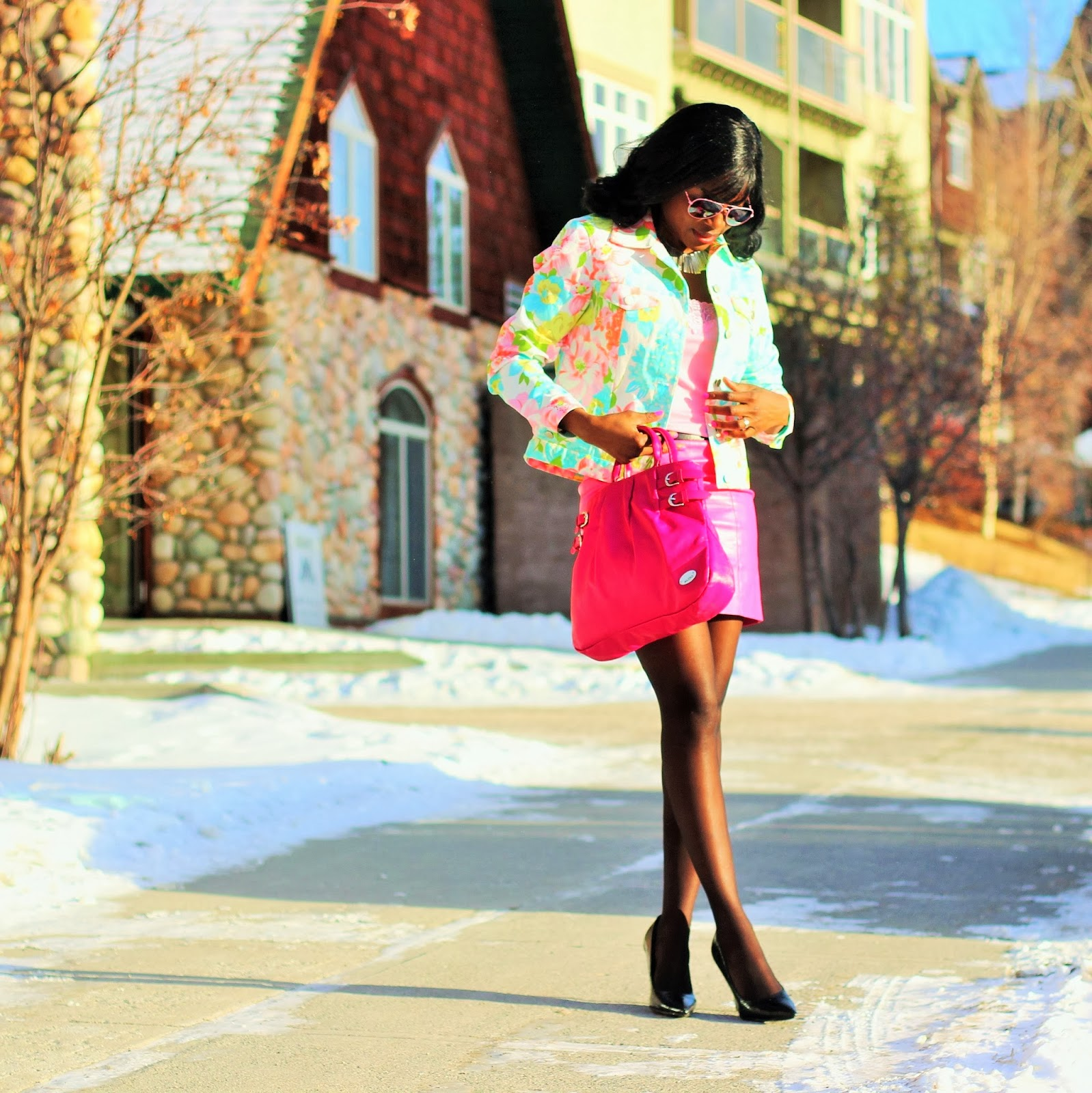 Perfect paste colors and sorbet hues outfit