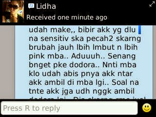 Testimoni Dodora Lip N Nipple Lightening Essence