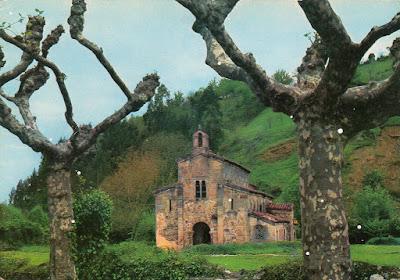 Conventín, Valdediós, San Salvador, postal, Villaviciosa