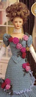 платье для Барби крючком вязаное