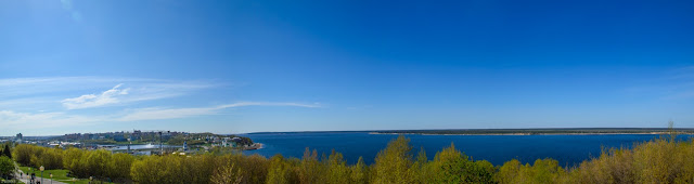 Панорама Волги Чебоксары