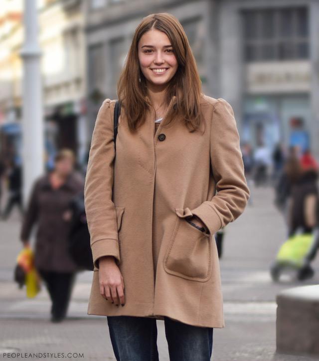 Ana Maria Jelavić, kako nositi podrapane trpaperice zimi, street fashion Zagreb, ulična moda Zagreb