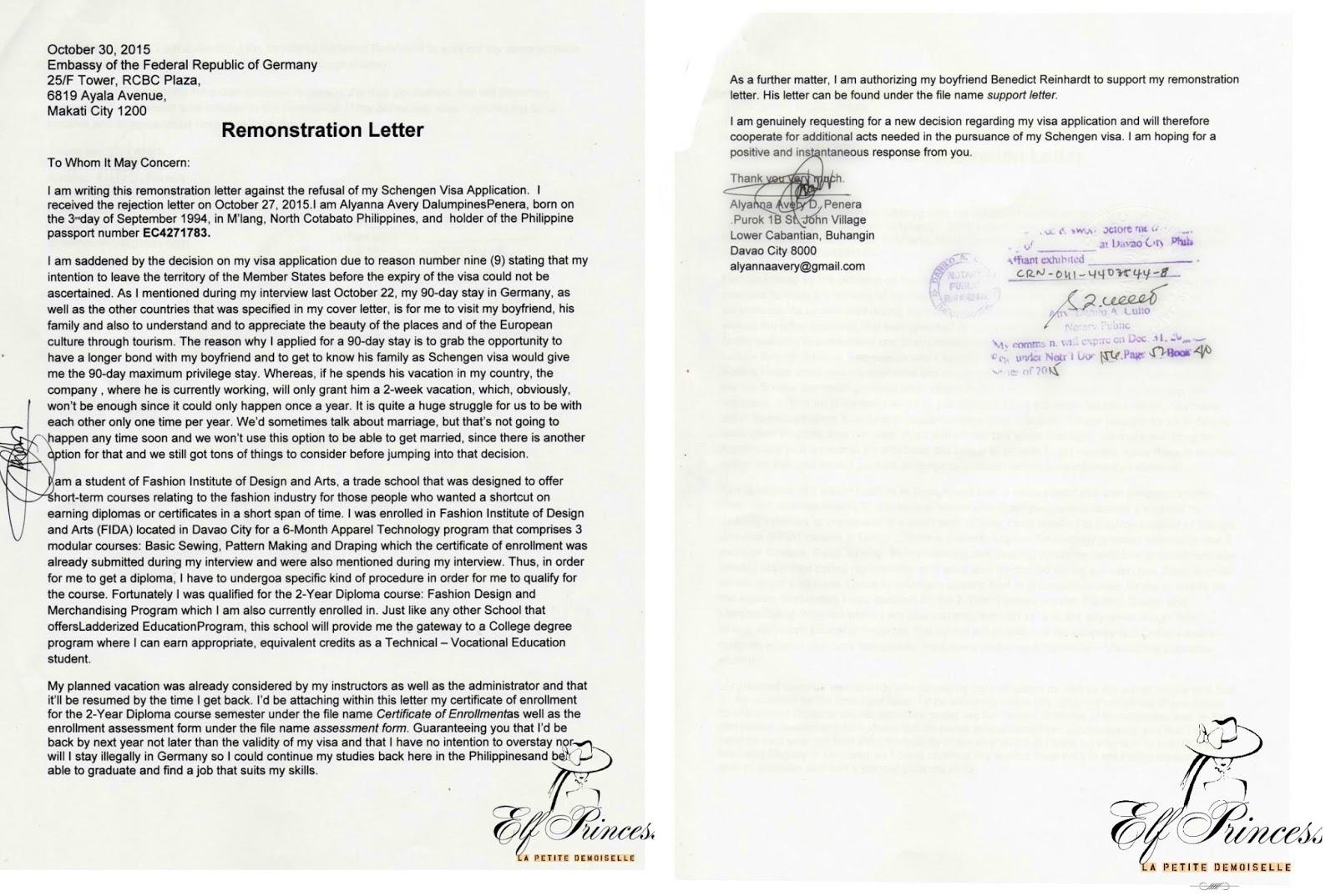 Us visa refusal denial and re application letter for school