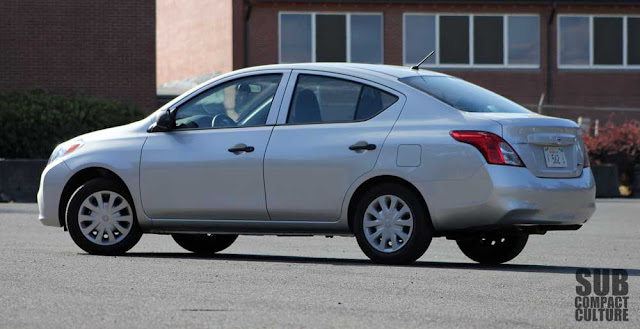 2012 Nissan Versa 1.6S rear shot