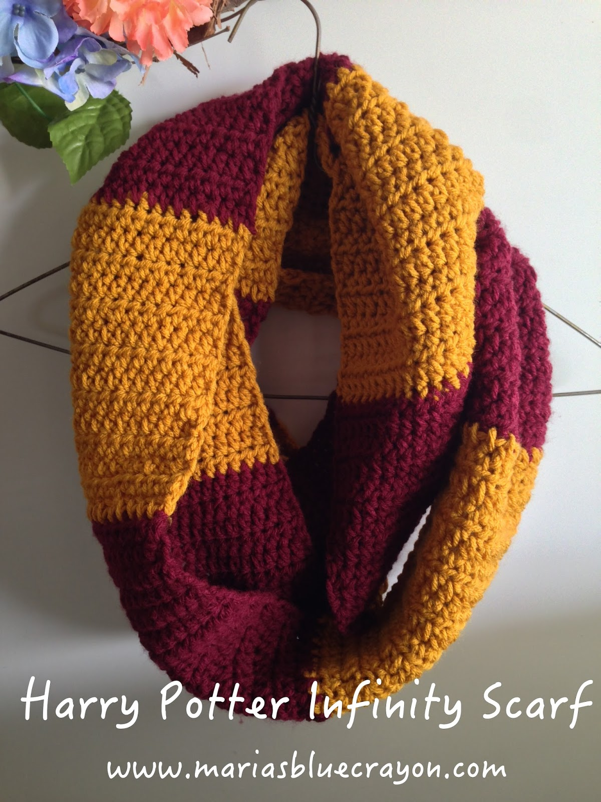 Harry Potter Infinity Scarf Crochet Pattern Maria S Blue Crayon