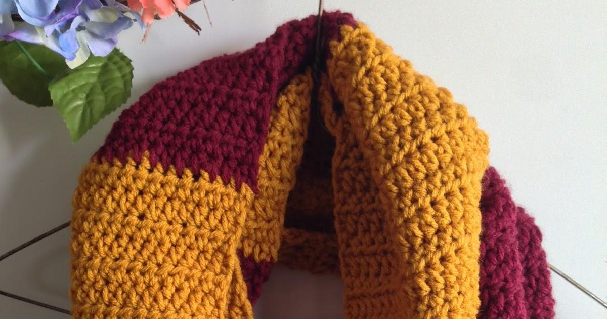 Harry Potter Infinity Scarf Crochet Pattern Marias Blue Crayon