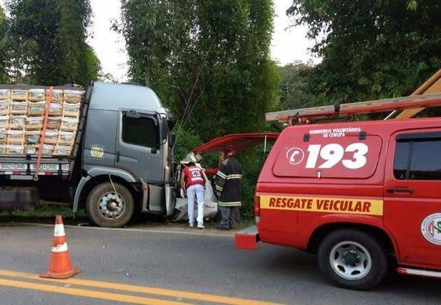 Acidente na BR 280 em Corupá deixa uma vítima