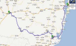 mapa ruta serra do rio do rastro