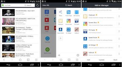 Tampilan Aplikasi UC Browser for Android
