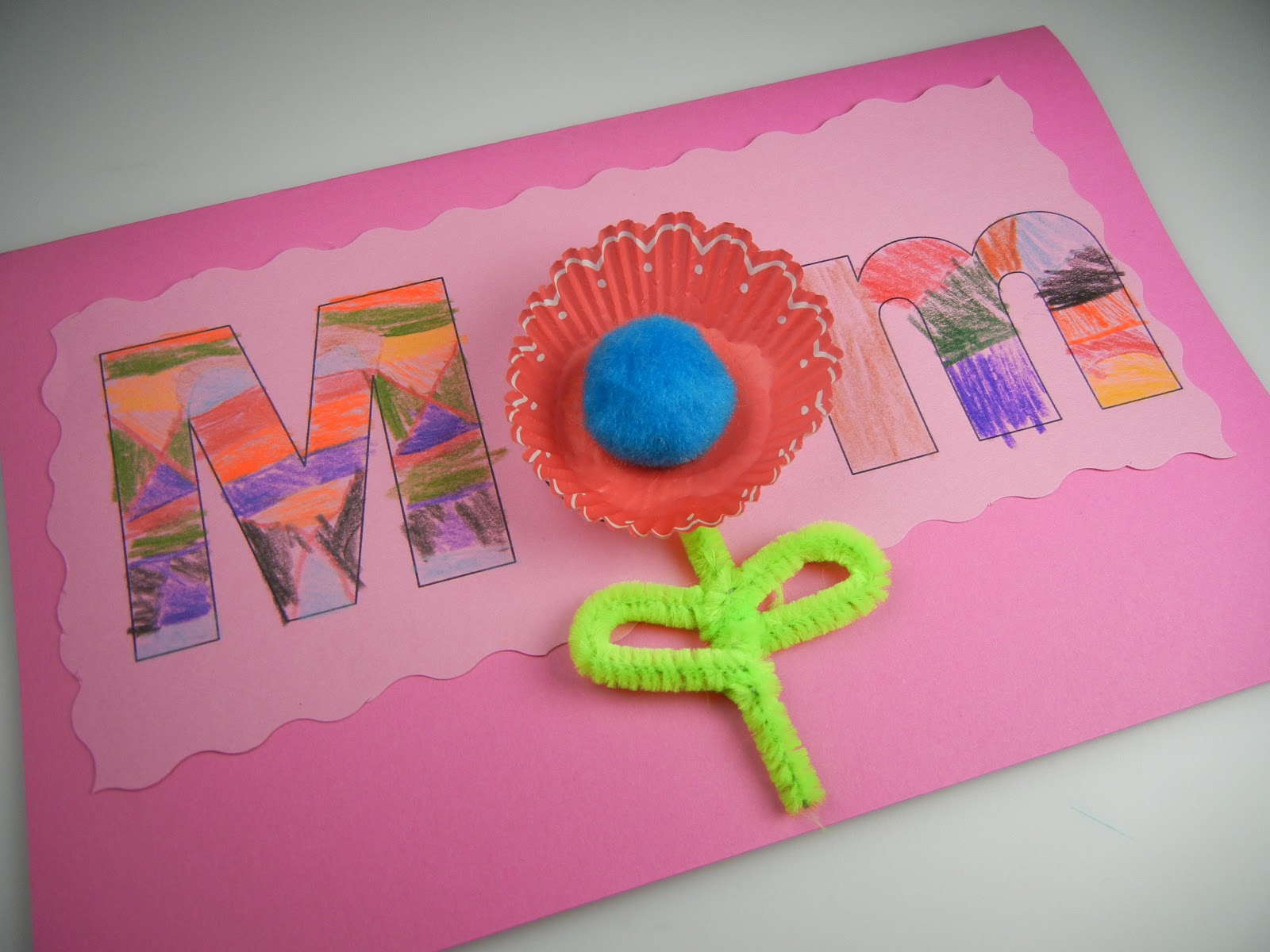 Mom+card+3 Template Inch Letter T on