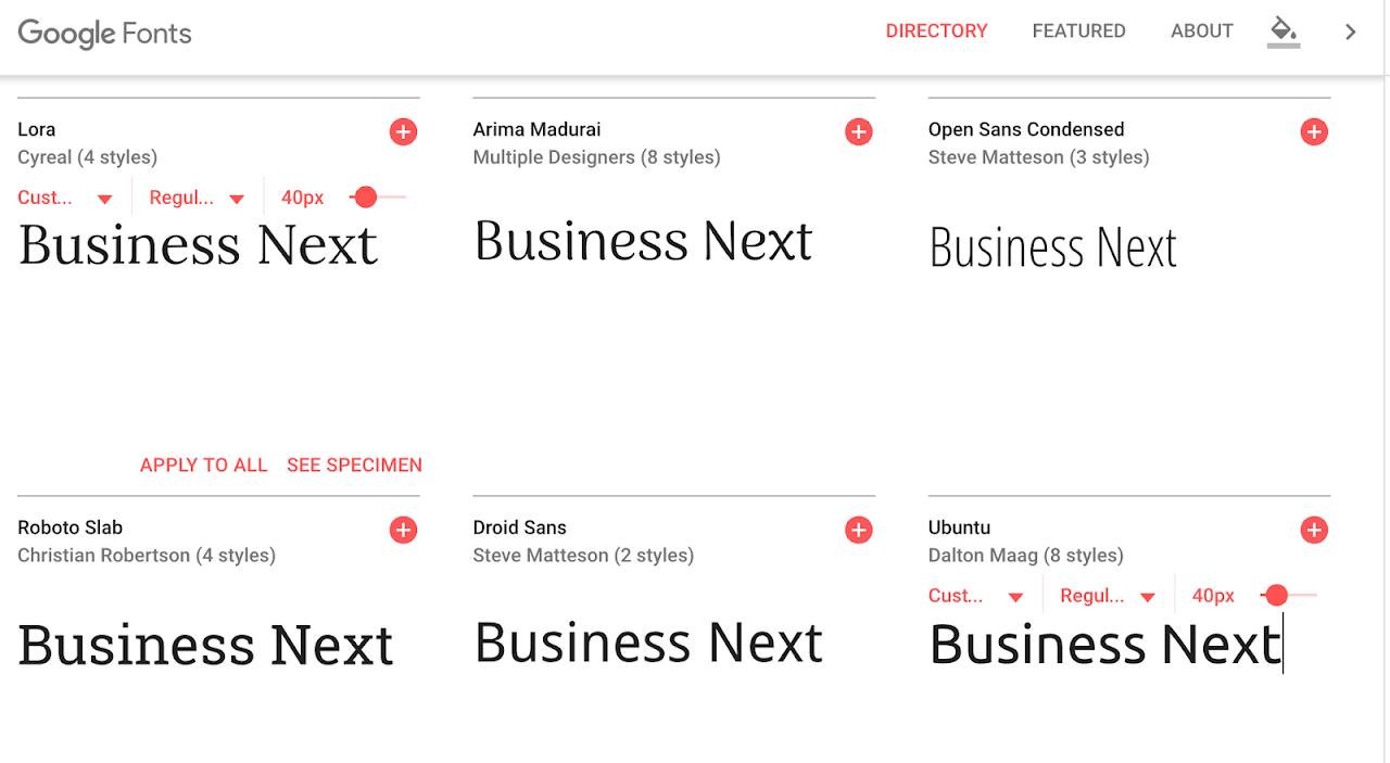 804款字體免費使用!Google新版字體網站上線