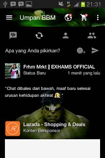 BBM Mod Tema Hulk v3.0.0.18 Apk Terbaru