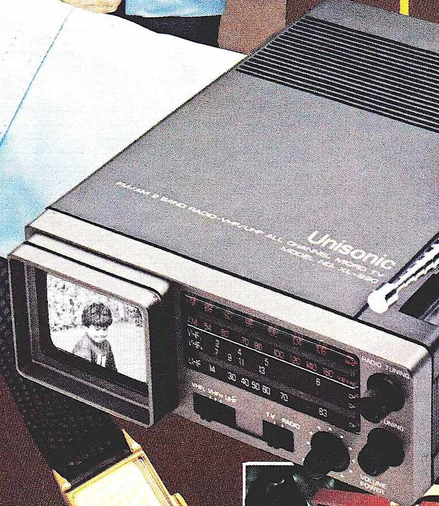 1972 Unisonic tv advertisement, a color photograph advertisement