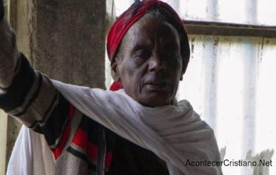 Hombre cristiano Etiopía
