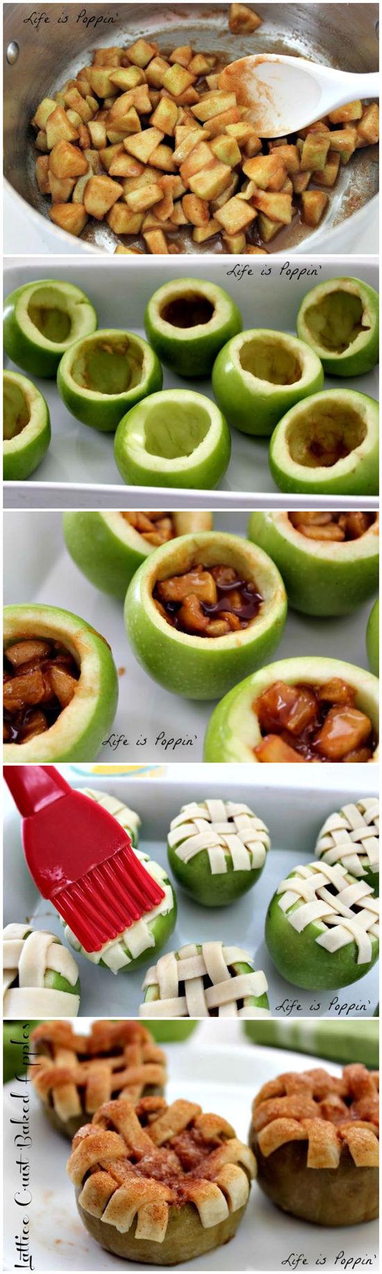 Lattice Crust Baked Apples