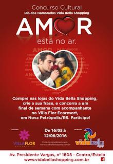 """Concurso Cultural de Dia dos Namorados """"O Amor está no Ar""""."""