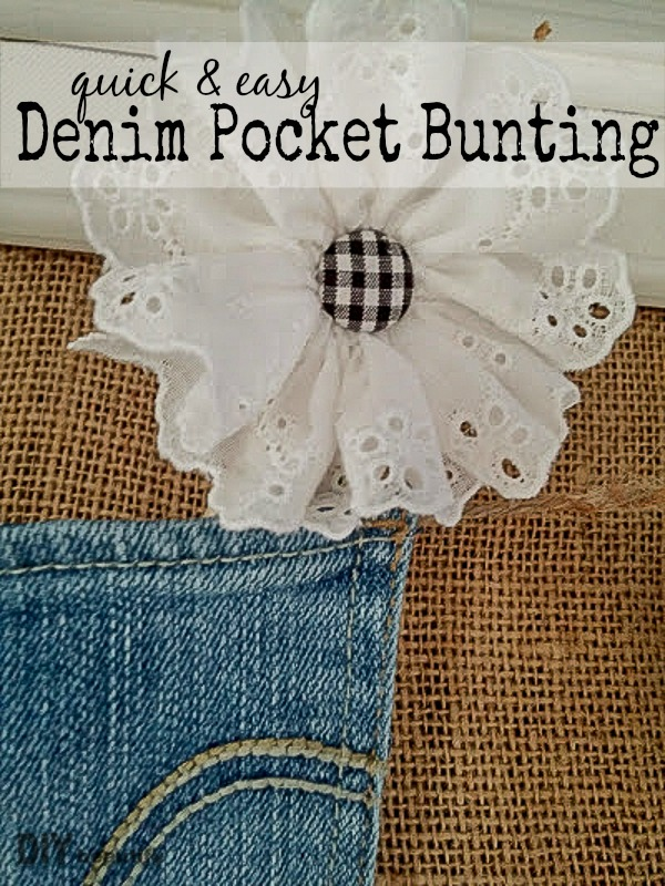 15 minutes and a few pairs of outgrown jeans are all you need to create this adorable Denim Pocket Bunting. Get all the details at DIY beautify!