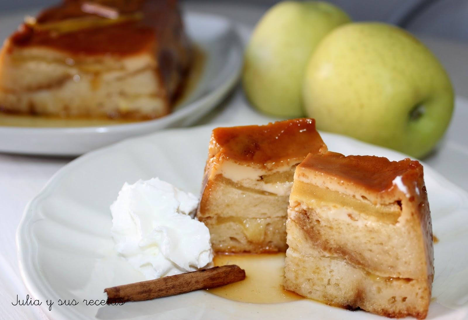 Pudin de manzana y magdalenas. Julia y sus recetas