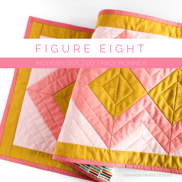 Figure Eight Table Runner | Pattern from Modern Quilts Block by Block book by Emily Dennis | Shannon Fraser Designs