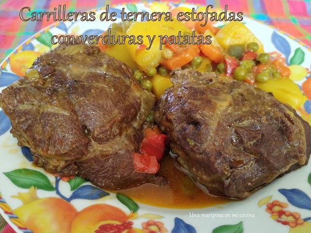 Carrilleras De Ternera Estofadas Con Patatas Y Verduras