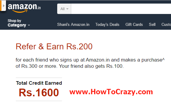 (Rs. 1600 Proof Added) Amazon Loot Offer - 100 Cashback on Rs. 300 or More (Unlimited Trick)
