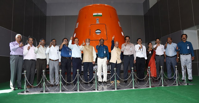 ISRO Chairman K Sivan among others at the inauguration of Human Space Flight Centre in Bengaluru. Credit: ISRO