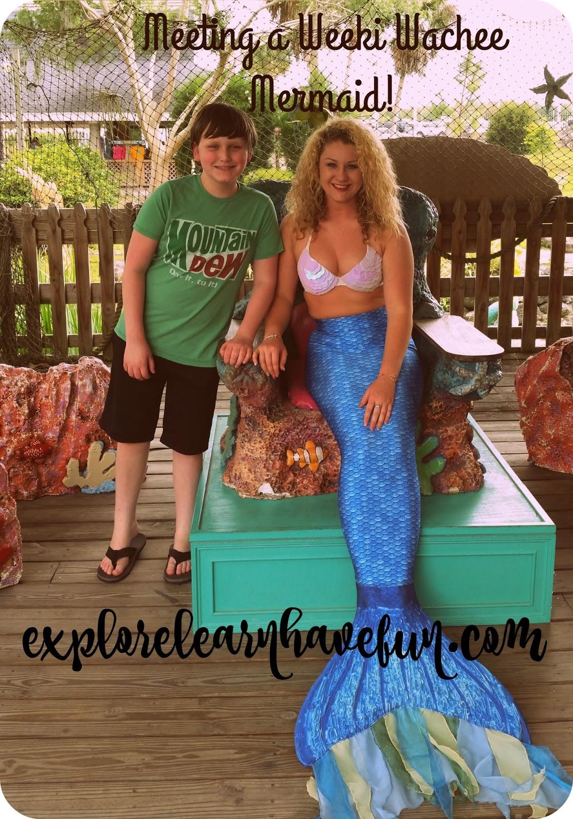 Meet Mermaids and Paddle A Crystal Clear River: Weeki ... |Meet Weeki Wachee Mermaids