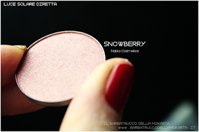 SNOWBERRY review eyeshadow ombretto  goldust collection Nabla cosmetics